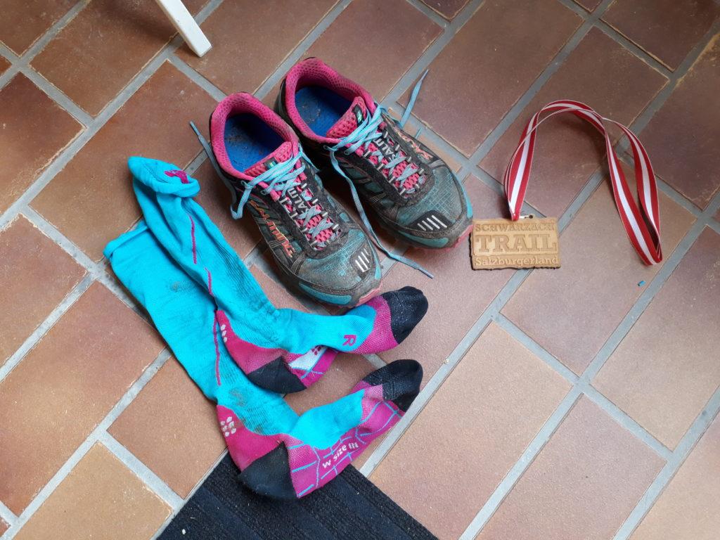 So sehen Schuhe nach 47 km aus