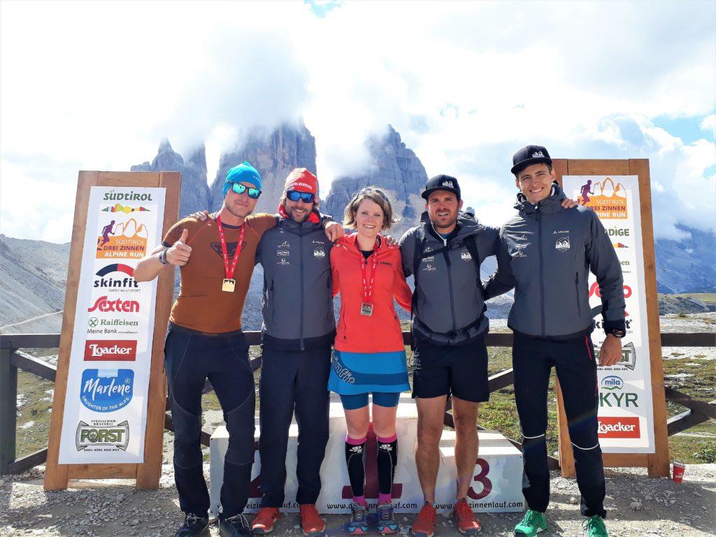 Ziel des Drei Zinnen Alpine Runs