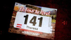 Startnummer für die Tour de Tirol